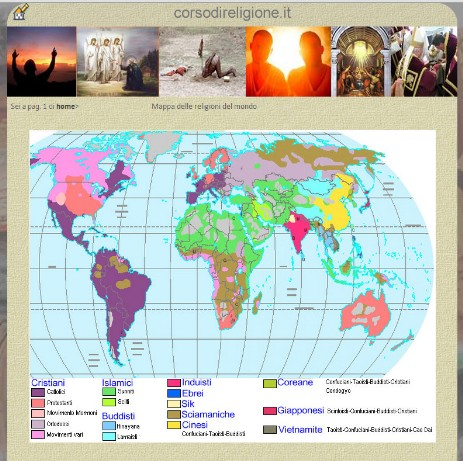 Cartina Delle Religioni Nel Mondo.Religioni Nel Mondo Progetto Scuola Storia Di Uomi Di Pace Di Gesu Di Santi